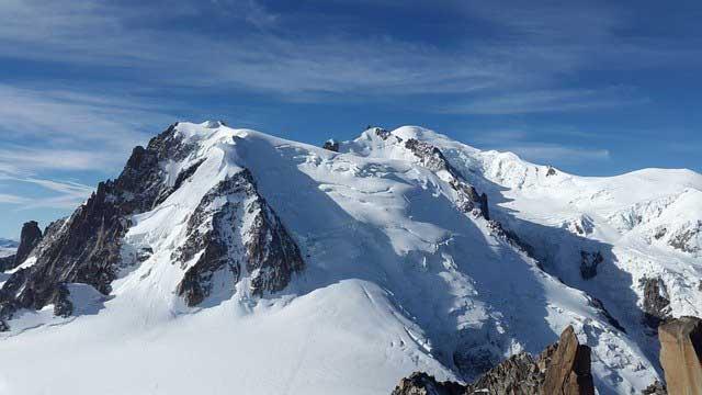 Mont Blanc - der höchste Berg in Italien