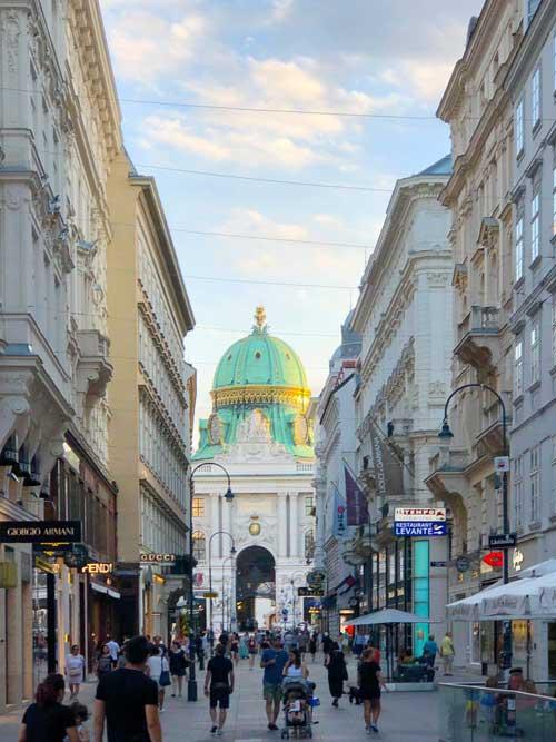 Einer der Wiener Shoppingmeilen