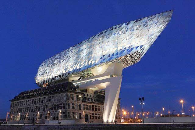 Hafen von Antwerpen in Belgien