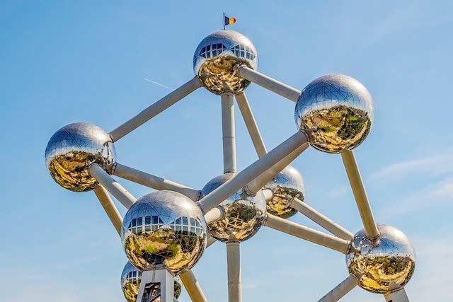 Belgien mit dem Atomium in Brüssel