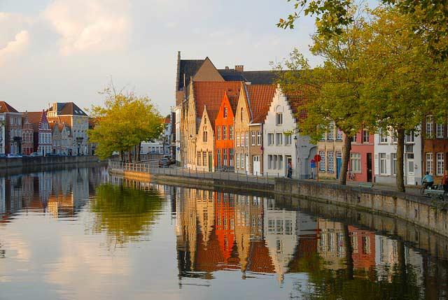 Brügge mit Kanal in Belgien