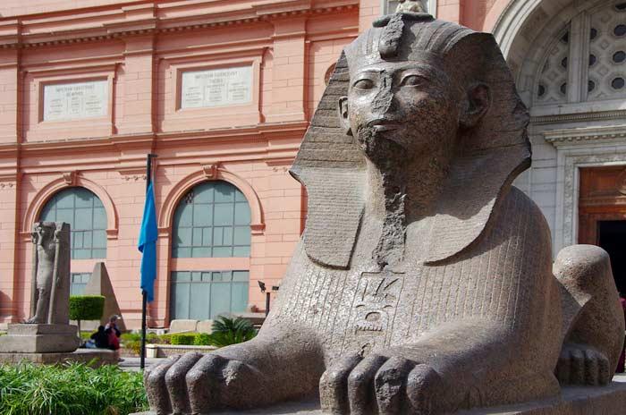 Eingang des ägyptisches Museums in Kairo