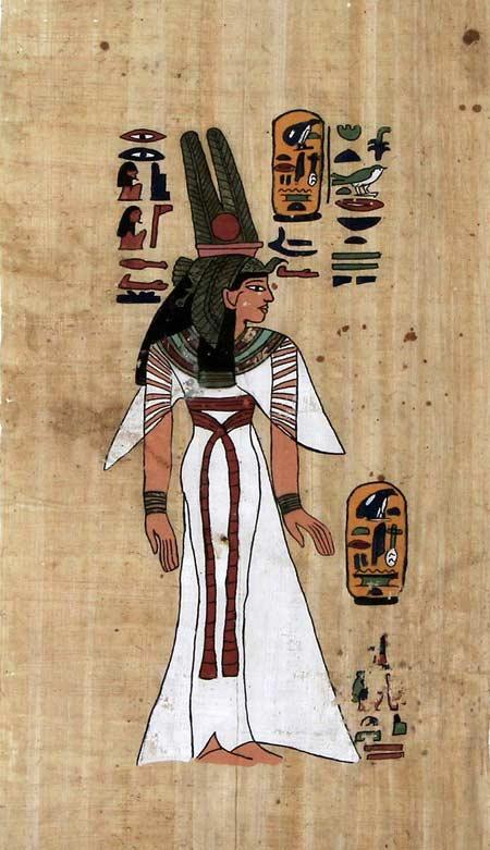 Papyrus und Hieroglyphen