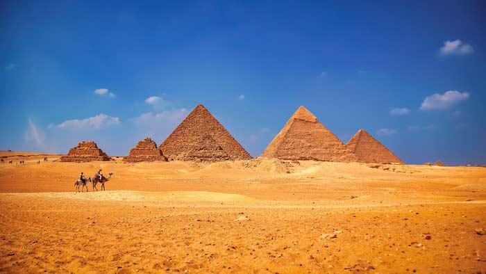 Ägyptische Pyramiden in Kairo