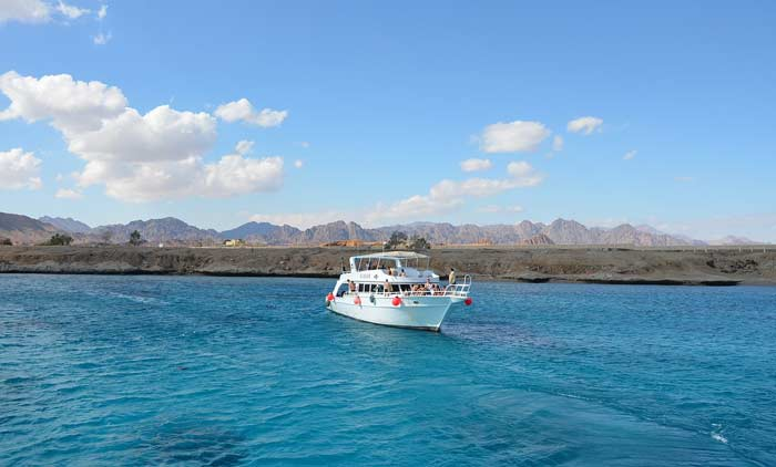 Rotes Meer mit Sinai Halbinsel